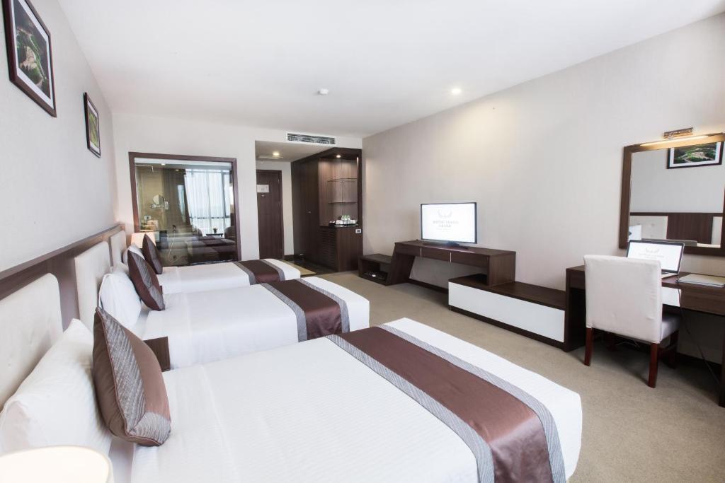 deluxe 3 giường đơn Khách sạn Mường Thanh Grand Hoàng Mai