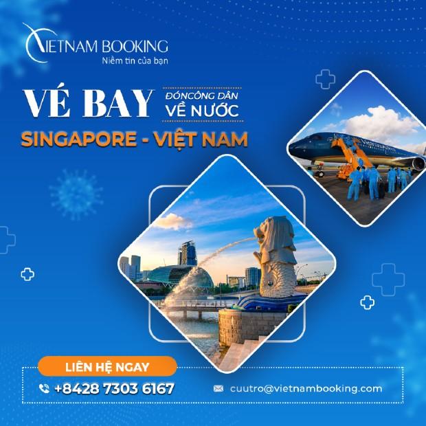 Vé máy bay Singapore về Sài Gòn | Lịch bay mới nhất