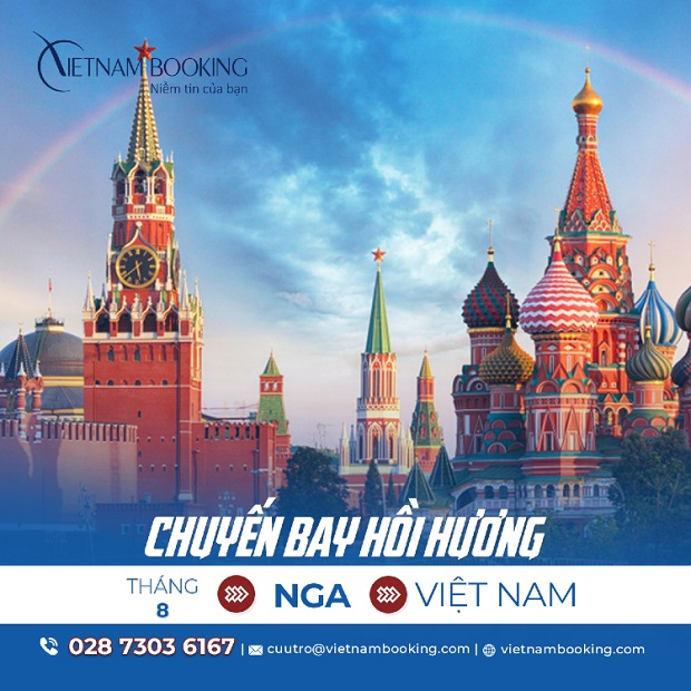 Vé máy bay từ Nga về Việt Nam