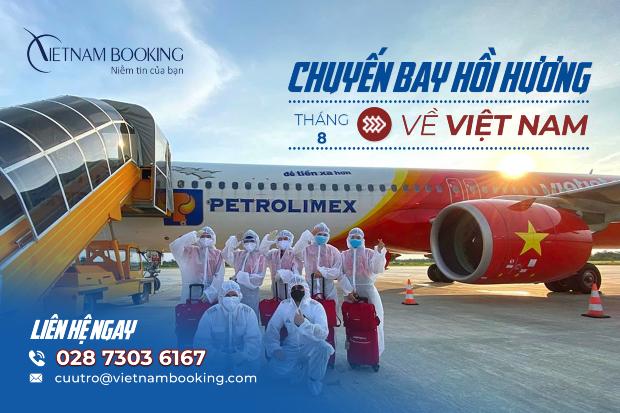 Thông tin khai thác Chuyến bay từ Canada về Việt Nam   Tháng 9/2021