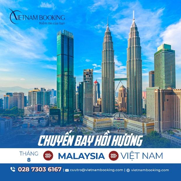 Vé máy bay từ Malaysia về Việt Nam